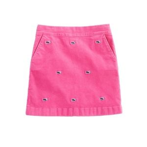 Vineyard Vines Whale Embroidered Cord Skirt Sz 8